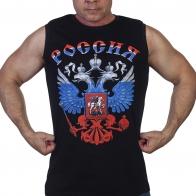 Майка с гербом России