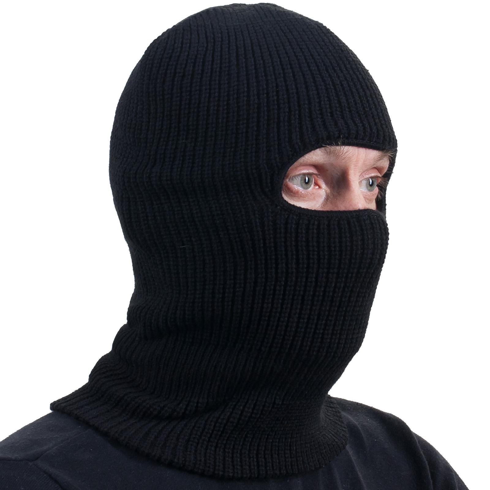 Чёрная маска-подшлемник