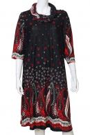 Черная модная туника ниже колен от Claire France