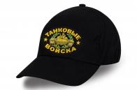 Черная мужская бейсболка Танковые войска.
