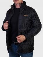 Черная мужская демисезонная куртка Christian Mode