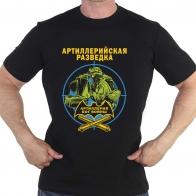 "Чёрная мужская футболка ""Артиллерийская разведка"""