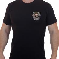 Черная мужская футболка с шевроном Рыболовных войск