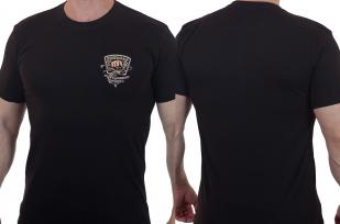 Черная мужская футболка с шевроном Рыболовных войск купить с доставкой