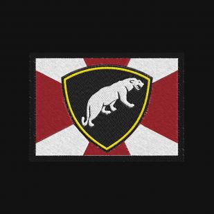 Черная мужская футболка с вышитым шевроном ОДОН ВВ МВД