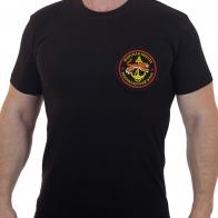 Черная мужская футболка с вышивкой Морская Пехота ТФ - купить оптом