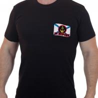Черная мужская футболка с вышивкой За МОРПЕХ