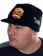 Черная мужская кепка Miller Way с нашивкой РУССКАЯ ОХОТА - заказать оптом