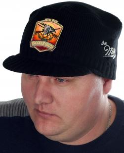 Черная мужская кепка Miller Way с нашивкой РУССКАЯ ОХОТА - заказать в подарок