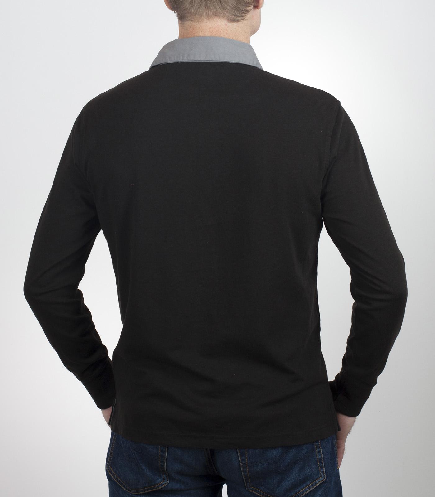 Купить мужскую футболку поло с длинным рукавом