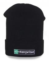 Черная мужская шапка Enterprise