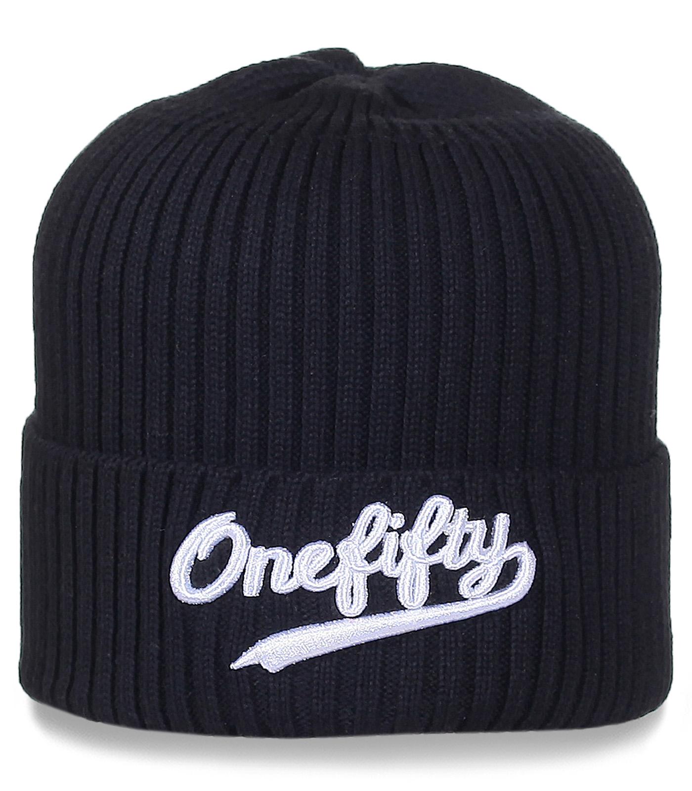 Черная шапка One Fifty