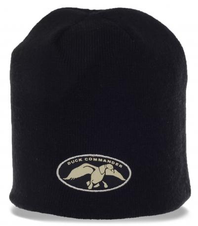 Черная мужская шапка от Duck commander