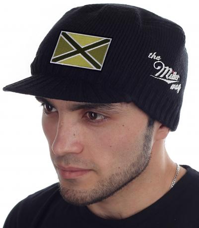 Черная мужская шапка с козырьком Miller Way - купить онлайн