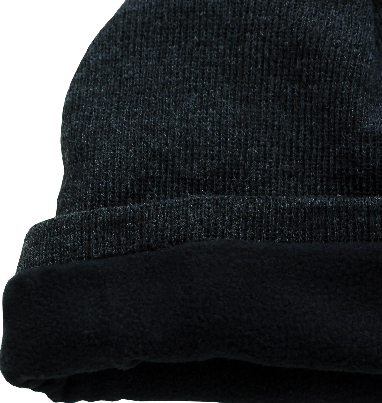 Купить черную мужскую шапку трикотажной модели с нашивкой по оптимальной цене