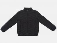Черная мужская стеганая куртка JCT & CO