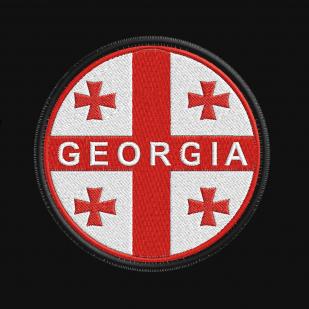 Черная мужская толстовка с нашивкой Флаг Грузии купить оптом