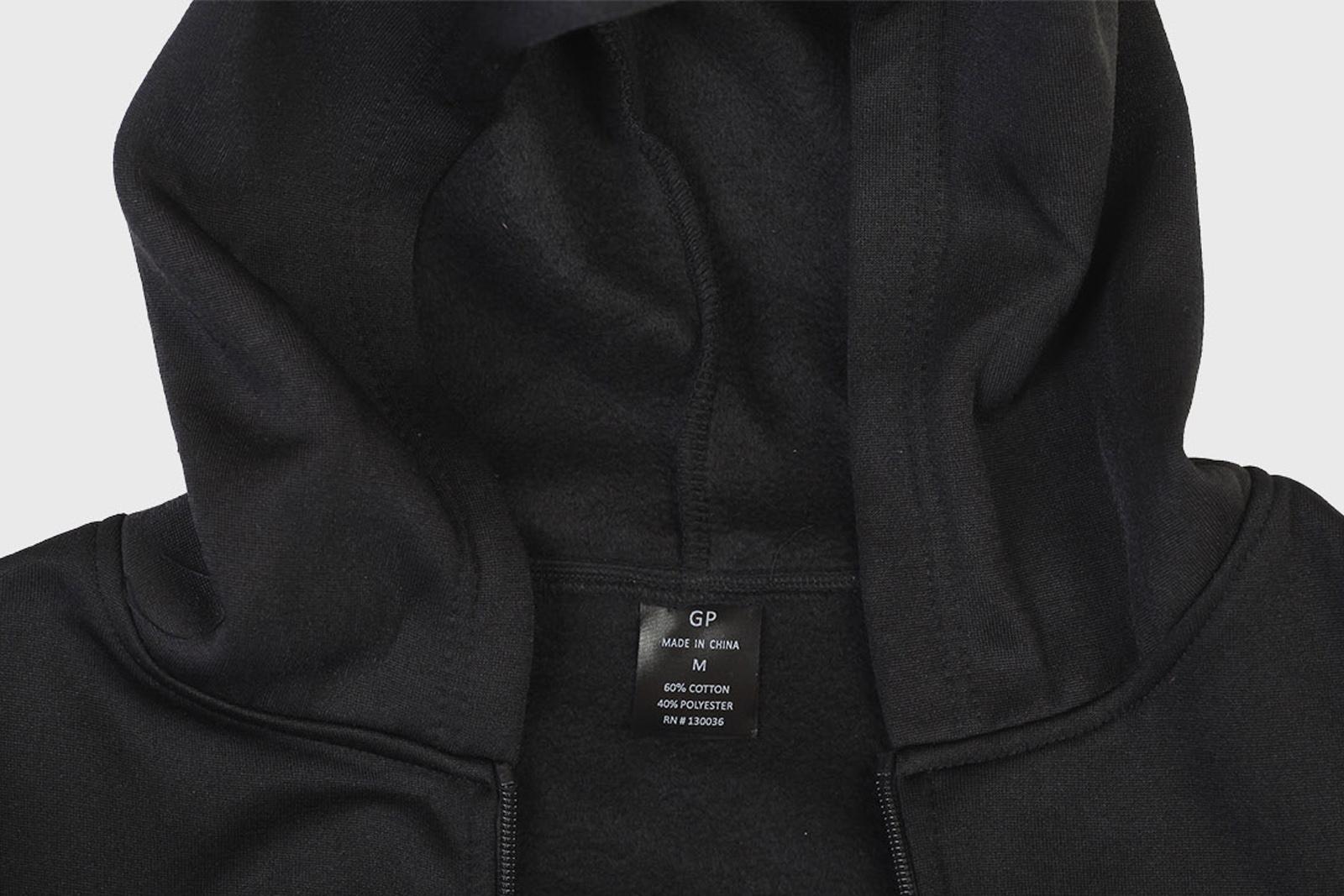 Черная надежная толстовка с символикой МВД на груди и спине - заказать по низкой цене