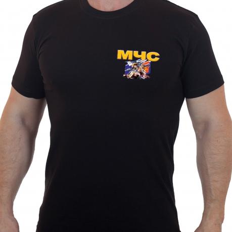 Черная оригинальная футболка МЧС