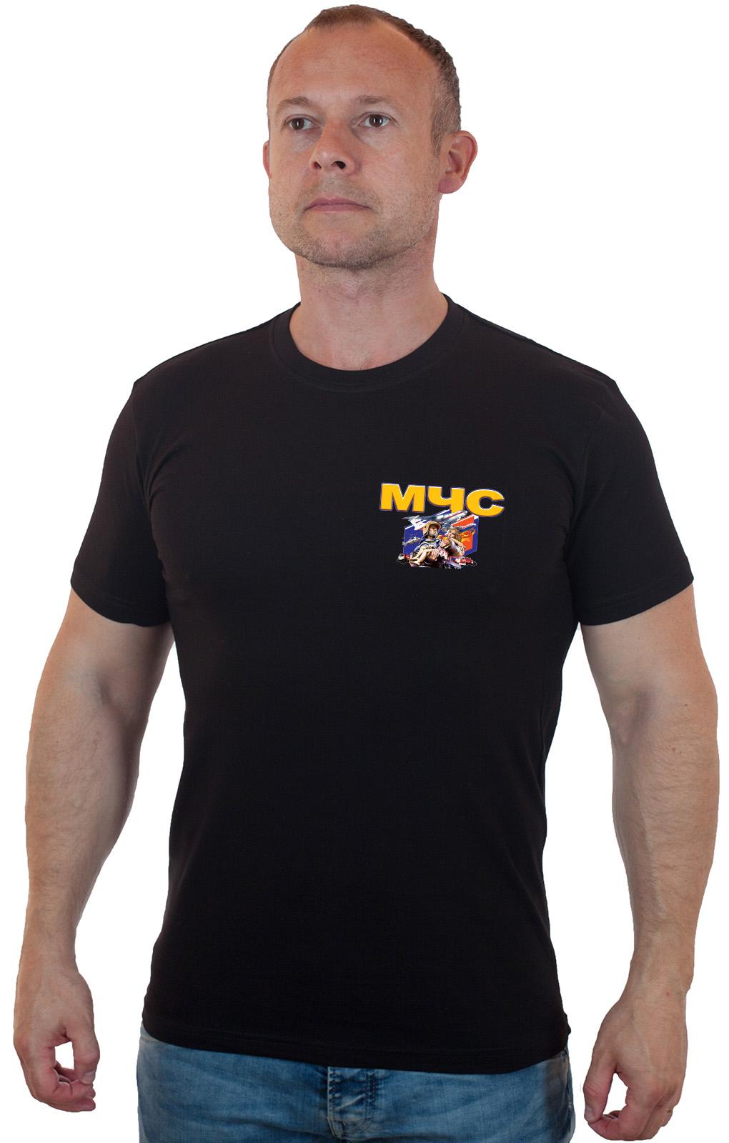Купить черную оригинальную футболку МЧС с доставкой в любой город