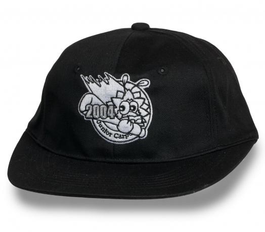 Черная оригинальная кепка снэпбэк JUNIOR CARP
