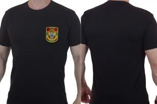 Черная мужская футболка Пограничная Служба.