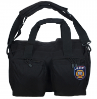 Черная походная сумка-рюкзак с нашивкой ДПС