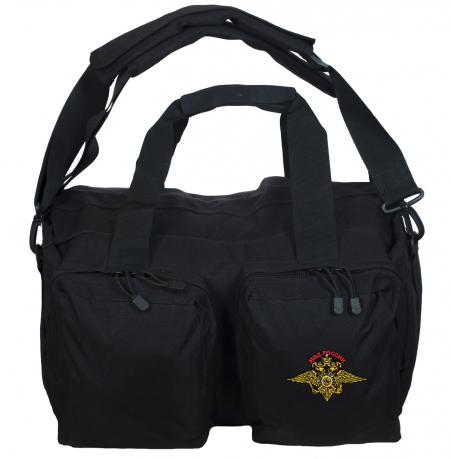 Черная полевая сумка-рюкзак с шевроном МВД