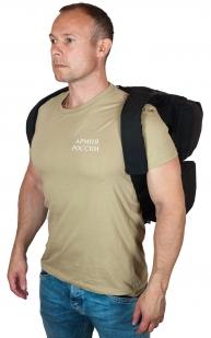 Черная полевая сумка-рюкзак с шевроном МВД купить в розницу
