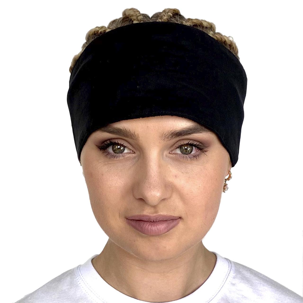 Черная повязка на голову