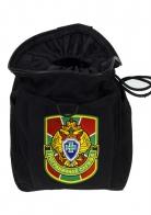 Черная поясная сумка для фляги  с нашивкой Пограничной службы