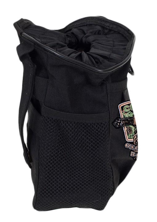 Черная поясная сумка под фляжку с нашивкой Охотничьих войск купить выгодно