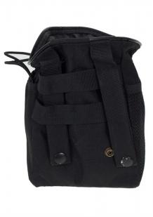 Черная поясная сумка под фляжку с нашивкой Охотничьих войск купить в подарок
