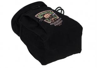 Черная поясная сумка под фляжку с нашивкой Охотничьих войск купить с доставкой