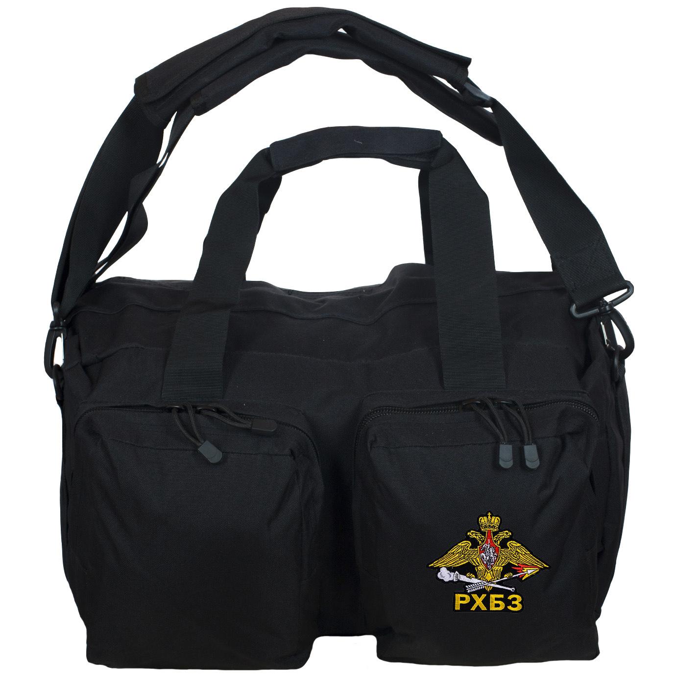 Черная практичная сумка-рюкзак с эмблемой РХБЗ