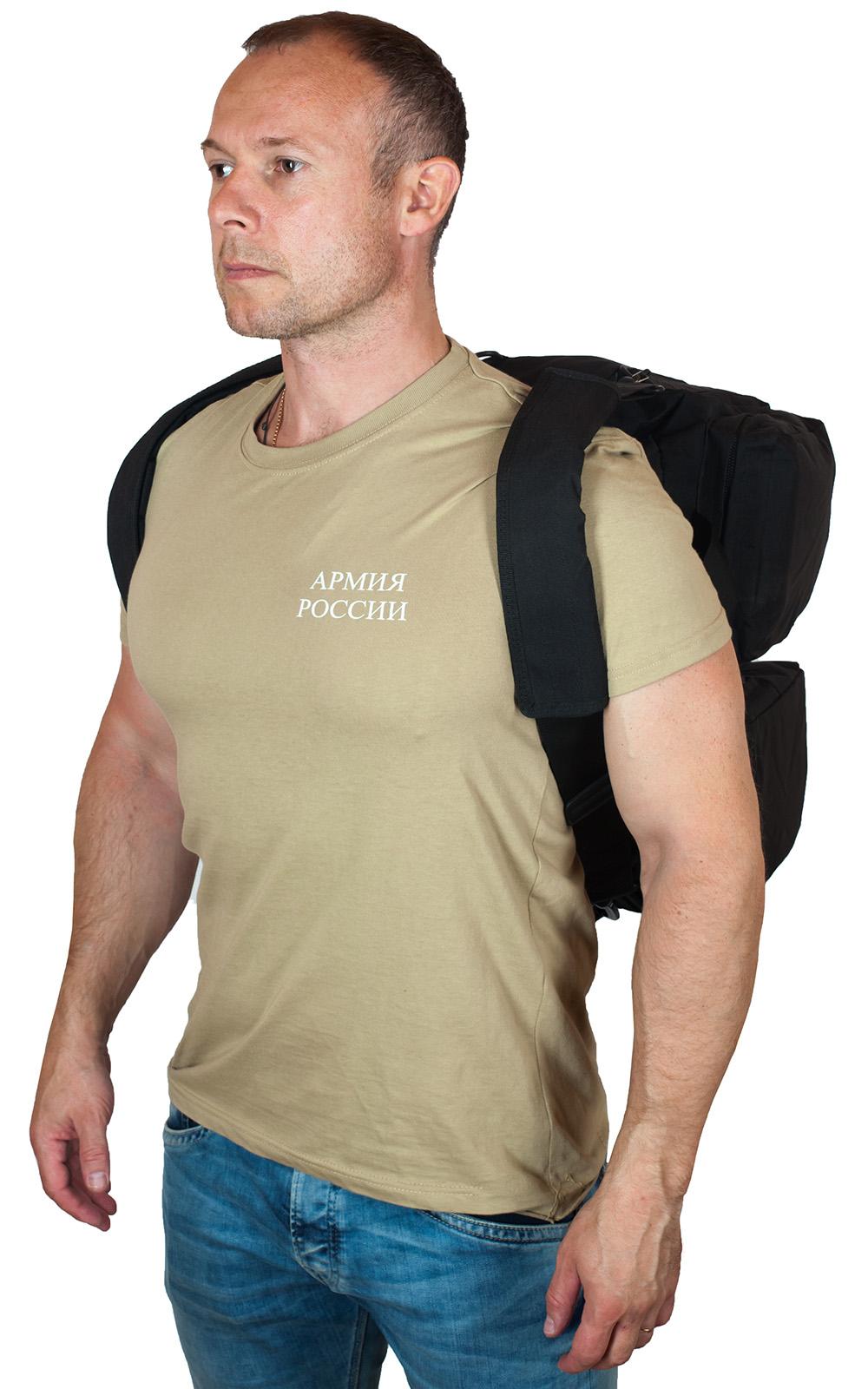 Черная практичная сумка-рюкзак с эмблемой РХБЗ купить с доставкой