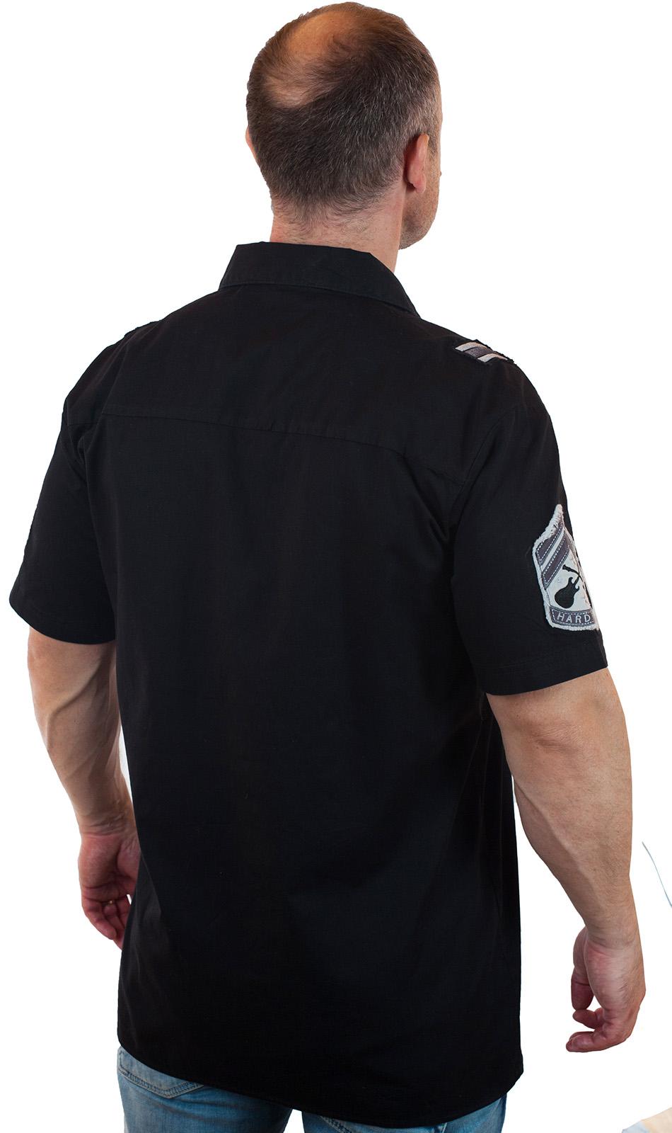 Черная рубашка Hard Rock для знатоков стиля с доставкой