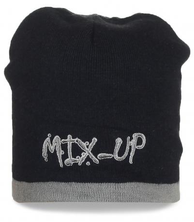 Черная шапка MIX-UP. Качественные вещи могут быть доступными, заказывайте!