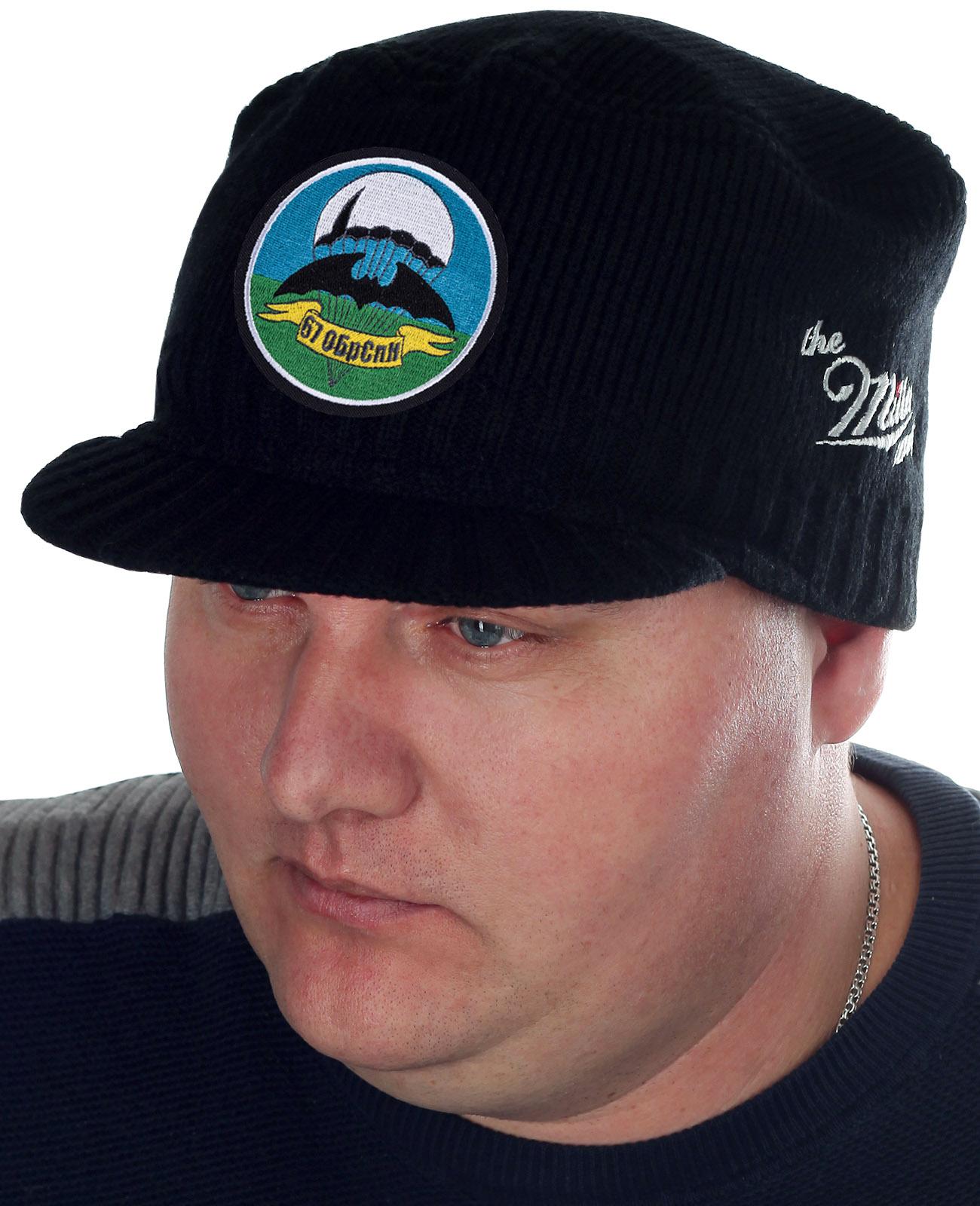 Черная шапка с козырьком от Miller Way - заказать онлайн