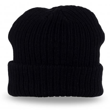 Черная шапка унисекс
