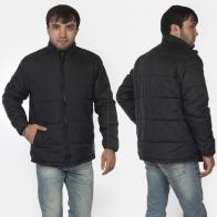 Черная стеганая мужская куртка от Urb.
