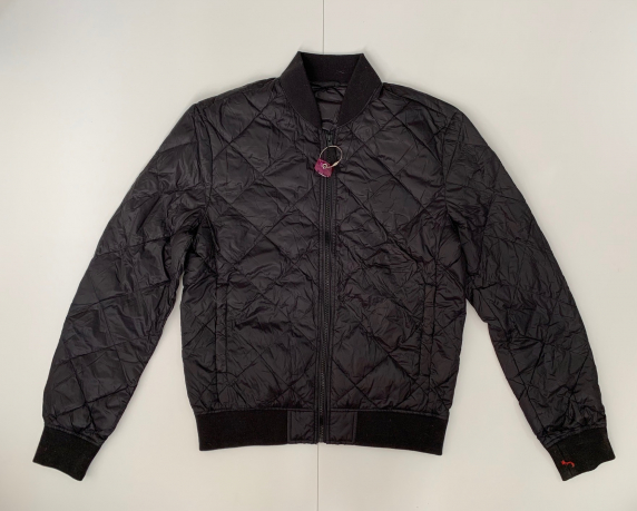 Черная стеганная куртка для мужчин