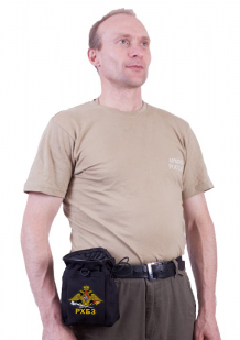 Черная сумка для фляжки с эмблемой РХБЗ купить по лучшей цене