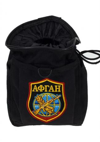 Черная сумка для фляжки в подарок афганцу
