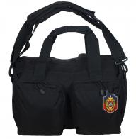 Черная тактическая сумка-рюкзак с нашивкой УГРО