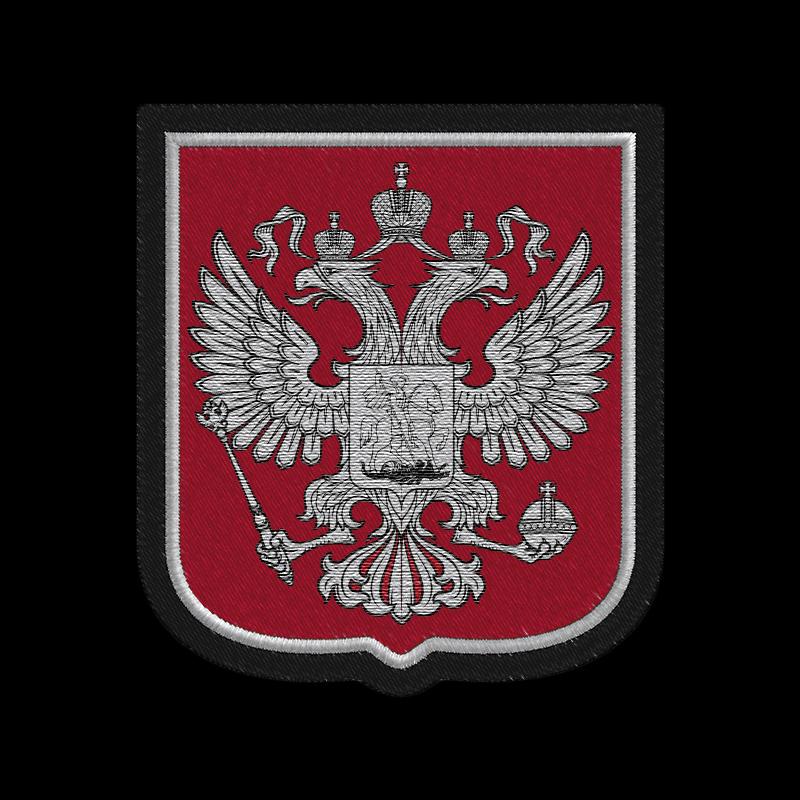 Заказать черную толстовку на молнии с серебренным гербом РФ с доставкой