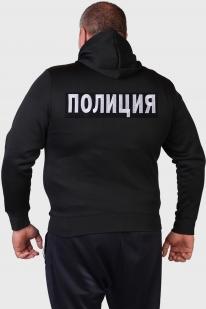 Черная мужская толстовка ПОЛИЦИЯ.