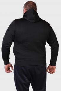 Черная мужская толстовка на молнии с черепами.