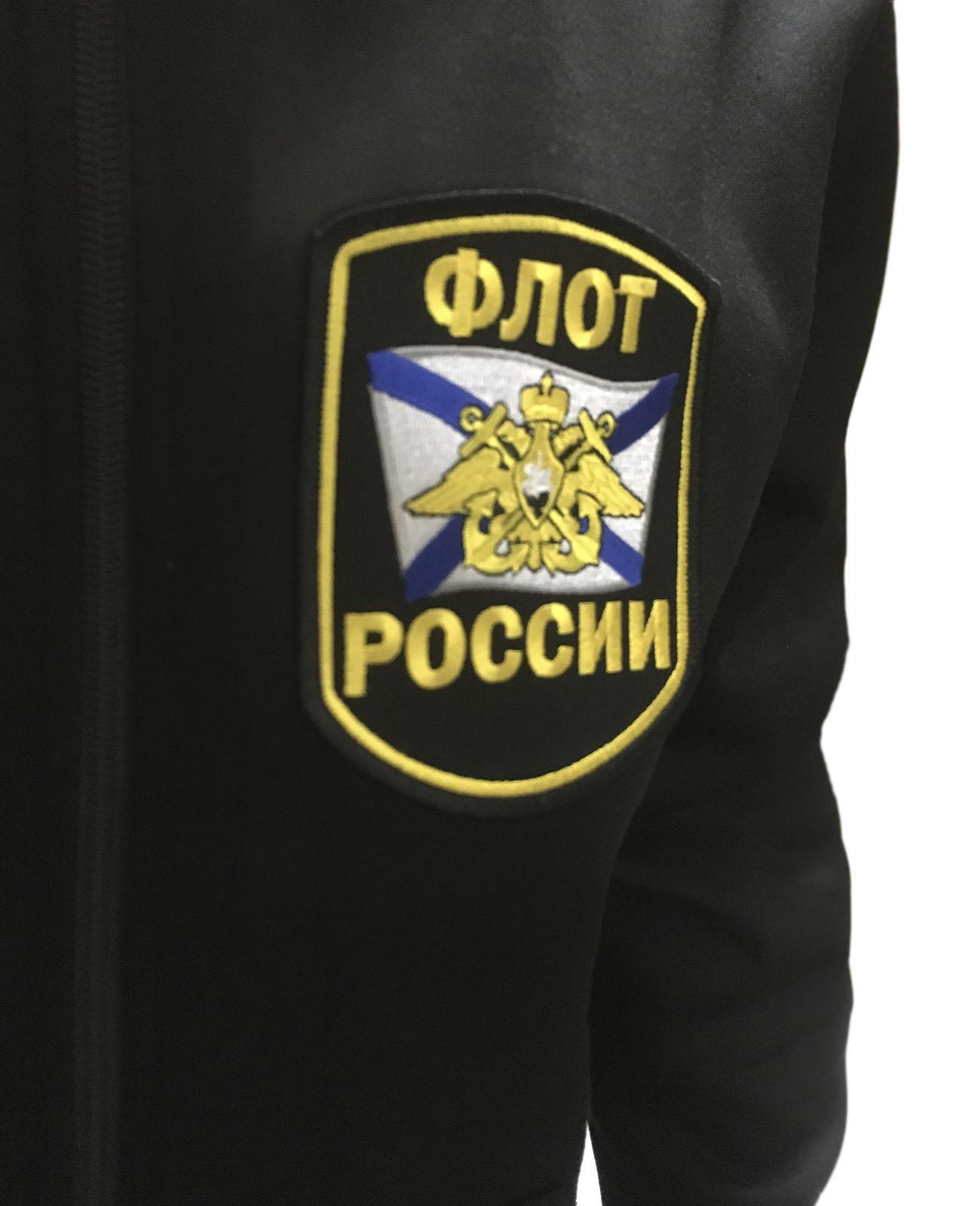 Черная толстовка с шевроном Флота России