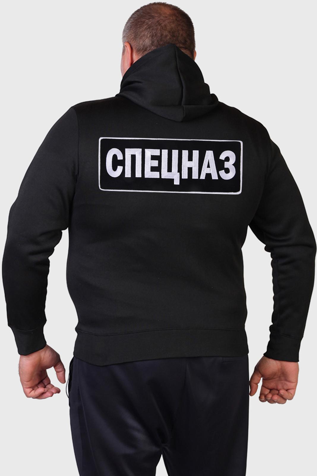 Мужская черная толстовка СПЕЦНАЗ.